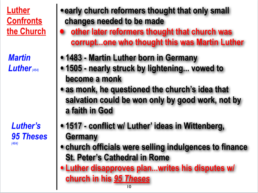 history of martin luther and the 95 thesis Five hundred years ago, martin luther tacked a document to the doors of the castle church in wittenberg, germany, thus creating a divide within the christian church luther was a catholic.